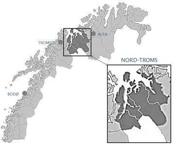 kart nord troms Travelling in North Troms   Nordtromsportalen